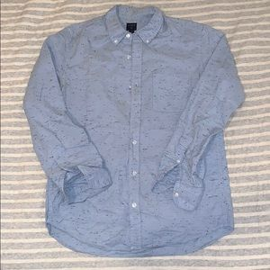 Light blue shirt with speckled navy pattern